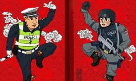 """上海警察""""门神""""被百万网友追捧"""